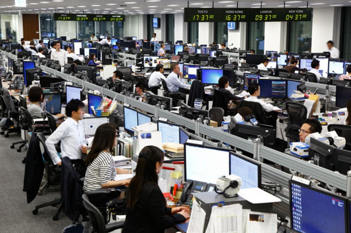 tokyo trading floor
